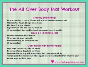 Mat workout pic